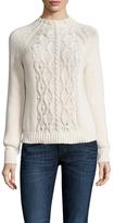 Cable Knit Mockneck Sweater
