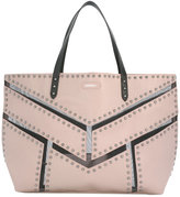 Diesel large studded tote bag - women - Leather/Nylon - One Size