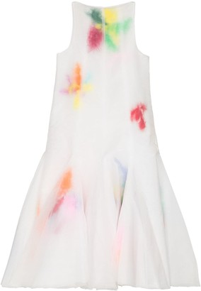 Susan Fang Contrast-Blotted Flared Dress