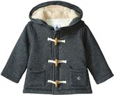 Petit Bateau Hooded Jacket With Toggle Closure (Baby) - Gray - 12 Months