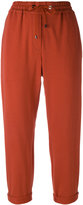 Brunello Cucinelli cropped joggers - women - Cotton/Polyester/Spandex/Elastane/Cupro - 42