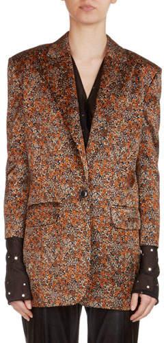 Magda Butrym Dijon Floral Jacquard Silk Blazer