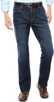 Claiborne Dark Intense Straight Leg Stretch Jeans