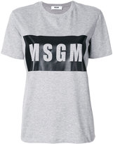 MSGM logo print T-shirt - women - Cotton - XS