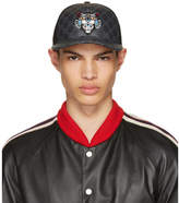 Gucci Black Angry Cat GG Supreme Baseball Cap