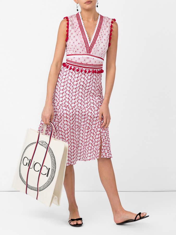 Altuzarra Printed v-neck dress