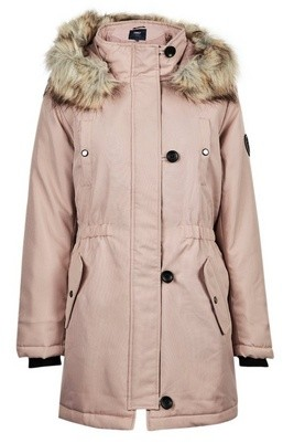 Dorothy Perkins Womens Only Dusky Rose Faux Fur Parker Coat