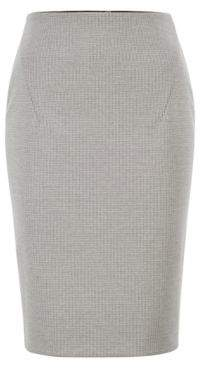 BOSS Pencil skirt in Italian jersey with full rear zip