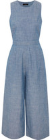 J.Crew Saron Cotton-chambray Jumpsuit - Blue