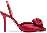 Charlotte Olympia Joan embellished satin slingback pumps