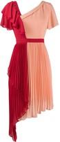 Three floor Chimera two-tone pleated dress