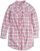 Levi's Plaid-Print Western Shirtdress, Little Girls (4-6X)