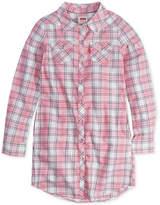 Levi's Plaid-Print Western Shirtdress, Little Girls