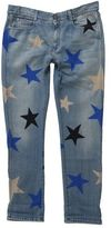 Stella McCartney Blue Skinny Boyfriend Jeans With Multicolor Stars
