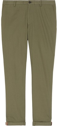 Burberry Icon stripe cuff chinos