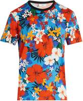 Ami Floral-print cotton-jersey T-shirt