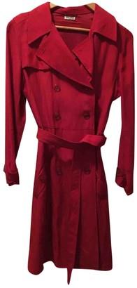 Miu Miu Red Trench Coat for Women
