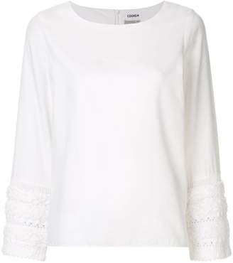 Coohem tweed sleeve blouse