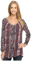 Lucky Brand Tribal Printed Top