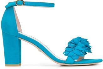 Stuart Weitzman Nearlynude Flower 80mm sandals