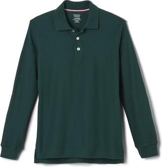 French Toast Boys' Big Long Sleeve Pique Polo Shirt (Standard & Husky)