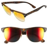 Ray-Ban Men's 'Clubmaster' 57Mm Sunglasses - Tort Red