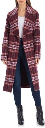 AVEC LES FILLES Plaid Oversize Double Face Coat