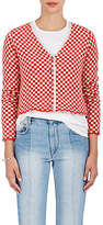 The Elder Statesman Women's Checked Cashmere Cardigan