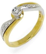 Tatitoto Gioie Women's Ring in 18k Gold with Diamond H/SI (total diamonds 0.06 ct), Size 5.5, 4.4 Grams