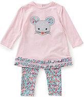 Starting Out Baby Girls 12-24 Months Ruffled Mouse Top and Floral Leggings Set