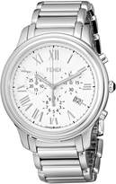 Fendi Men's F252014000 Classico Analog Display Quartz Silver Watch