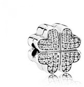 Pandora Clip Bead Silver Heart Zircons Women 791805CZ