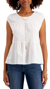 Style&Co. Style & Co Cotton Tiered Tank Top, Created for Macy's