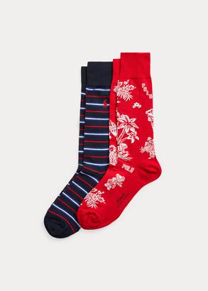 Ralph Lauren Tropical Bear Sock 2-Pack