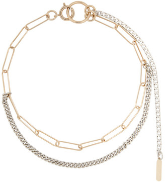Justine Clenquet Silver and Gold Pixie Choker