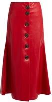 Awake Superfish faux-leather midi skirt