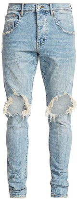 Purple Brand P002 Slim Dropped Fit Ripped Jeans