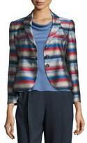 Armani Collezioni Striped Jacquard Three-Button Jacket, Multi