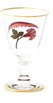 Cabana CABANA Lisa Painted White Wine Glass