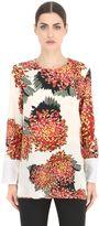 Sportmax Floral Printed Silk Crepe Top