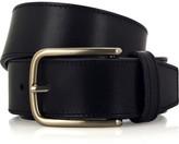 Buckle-fastening leather belt