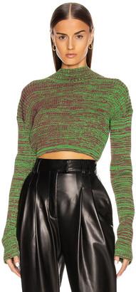 CHRISTOPHER ESBER Deconstruct Sweater in Green & Maroon | FWRD
