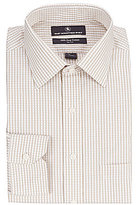 Hart Schaffner Marx Non-Iron Fitted Classic-Fit Spread Collar Checked Dress Shirt