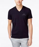 Armani Exchange Men's Graphic-Print Logo V-Neck T-Shirt