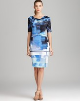 Escada Print Dress - Short Sleeve Brushstroke