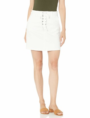 Vince Camuto Women's Lace Up Front White Skirt