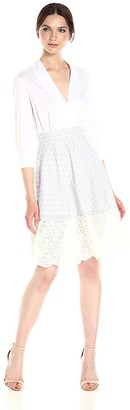 French Connection Women's Oni Lace Mix Dress