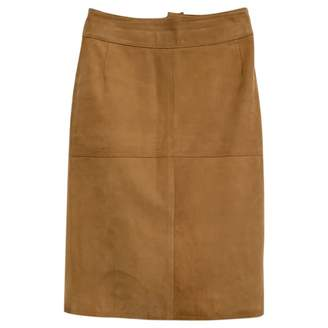 Emma Cook Camel Suede Skirt for Women