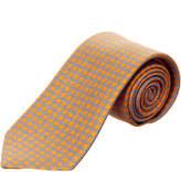 Ermenegildo Zegna Ermengildo Zegna Orange & Blue Circles Silk Tie