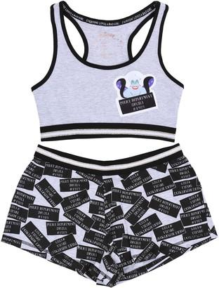 Disney Grey Ladies Bra Top & Shorts Pyjama Set Ursula The Little Mermaid 6-8 / EU 34-36